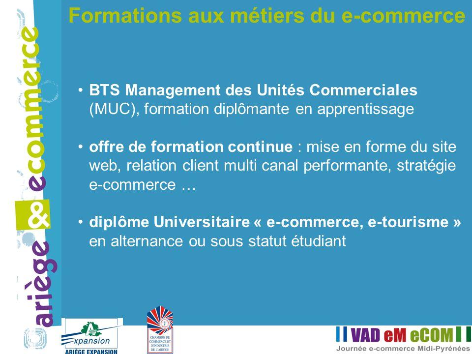 BTS Management des Unités Commerciales (MUC), formation diplômante en apprentissage offre de formation continue : mise en forme du site web, relation