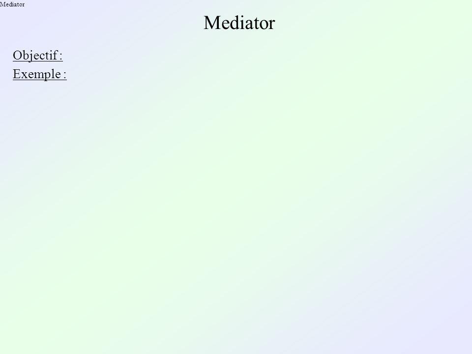 Mediator Objectif : Exemple :