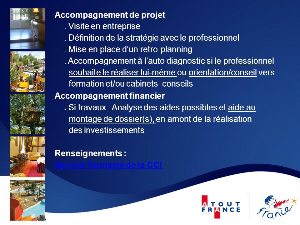 Mise à jour le 12/09/2010 Accompagnement de projet. Visite en entreprise. Définition de la stratégie avec le professionnel. Mise en place dun retro-pl