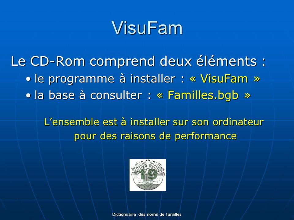 Dictionnaire des noms de familles Prix dacquisition CD-Rom emporté : 10 CD-Rom expédié : 10 + 2 Expédition par voie postale après commande auprès de : Michel LARRIEU 27, rue Francis Carco.