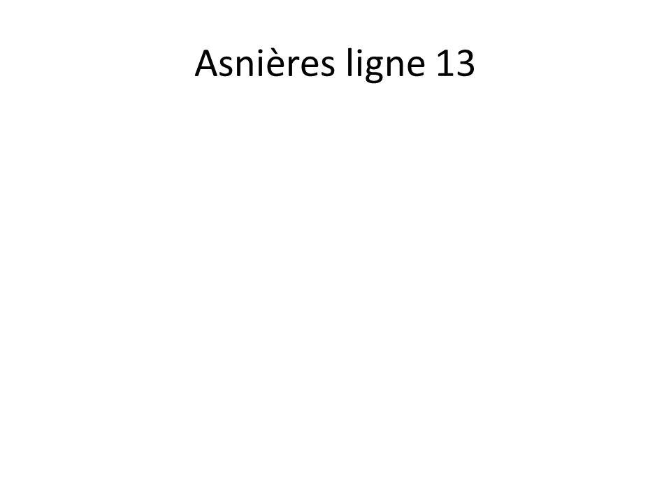 Asnières ligne 13