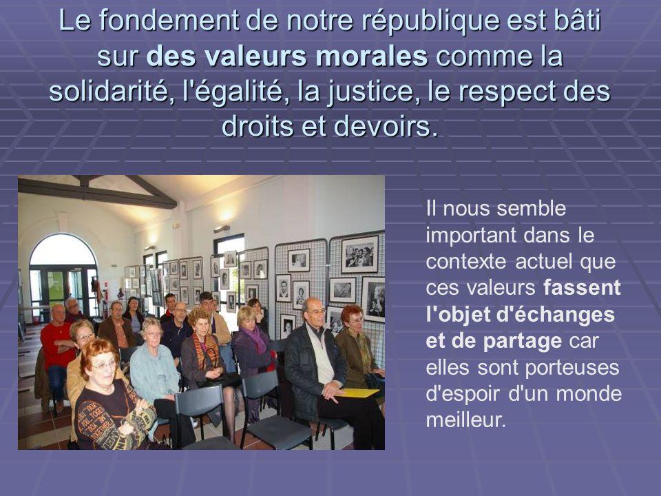 Ce mardi 30 mars, la Présidente du Cercle Républicain, Evelyne Charron et Suzanne Guilhem, Présidente de la Fédération des AIL, ont invité à un débat animé par Jean-Claude Blanquet.