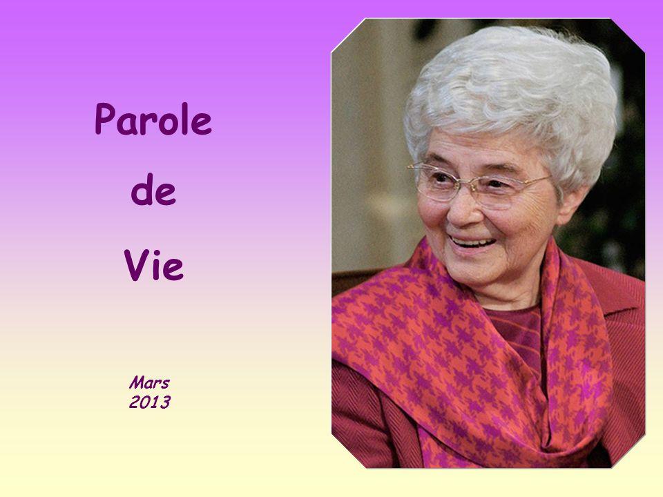 Parole de Vie Mars 2013