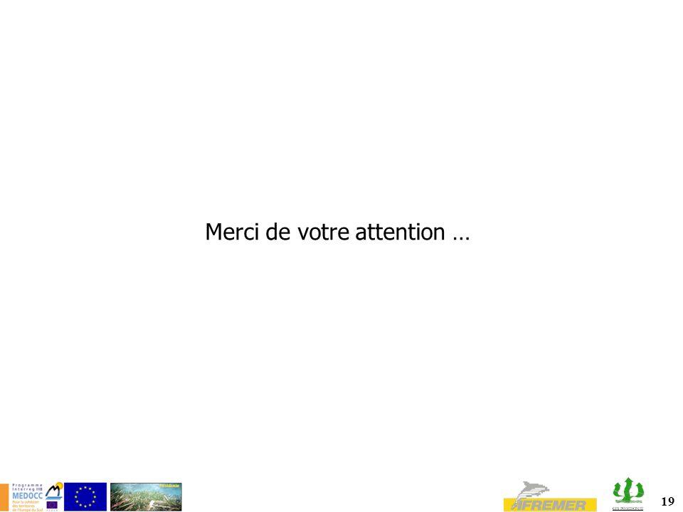 19 Merci de votre attention …