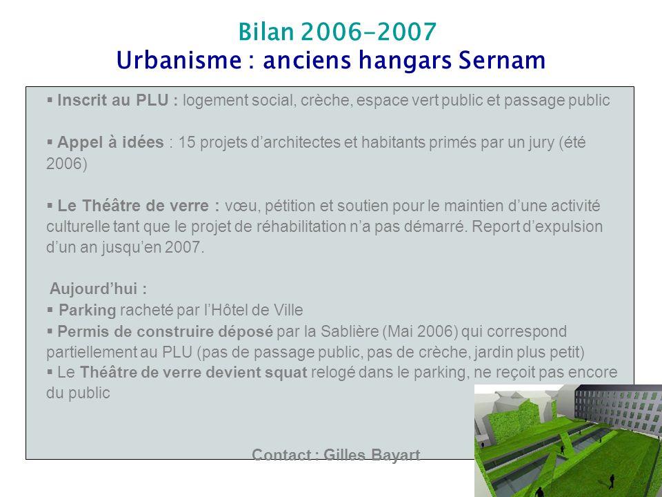 Inscrit au PLU : logement social, crèche, espace vert public et passage public Appel à idées : 15 projets darchitectes et habitants primés par un jury