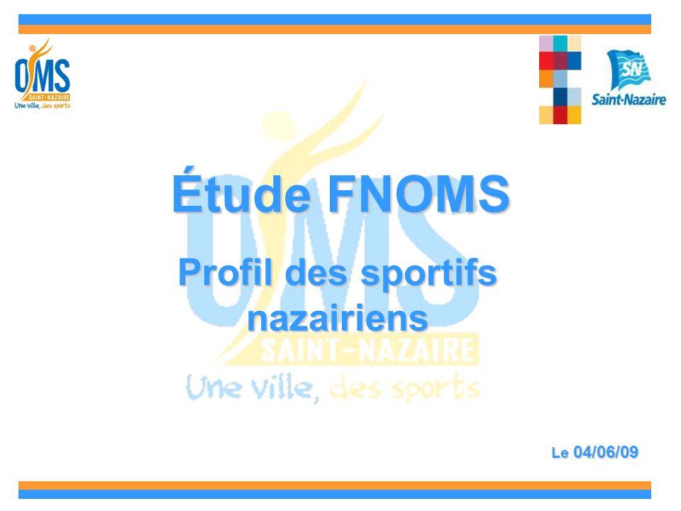 Étude FNOMS Profil des sportifs nazairiens Le 04/06/09