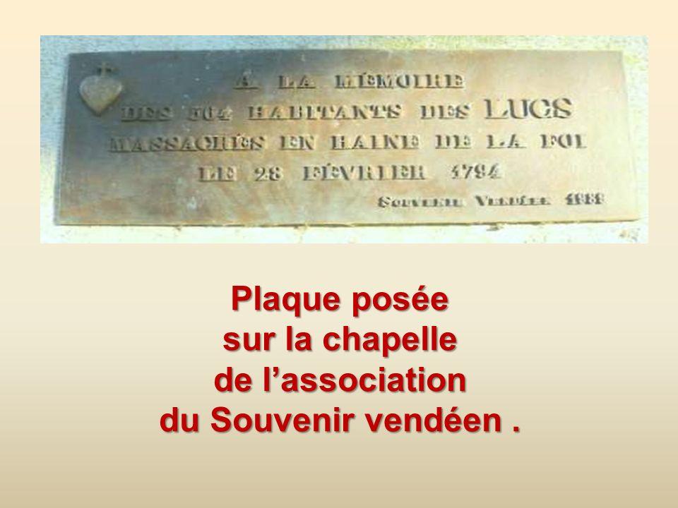 La chapelle élevée en souvenir des morts de la commune.