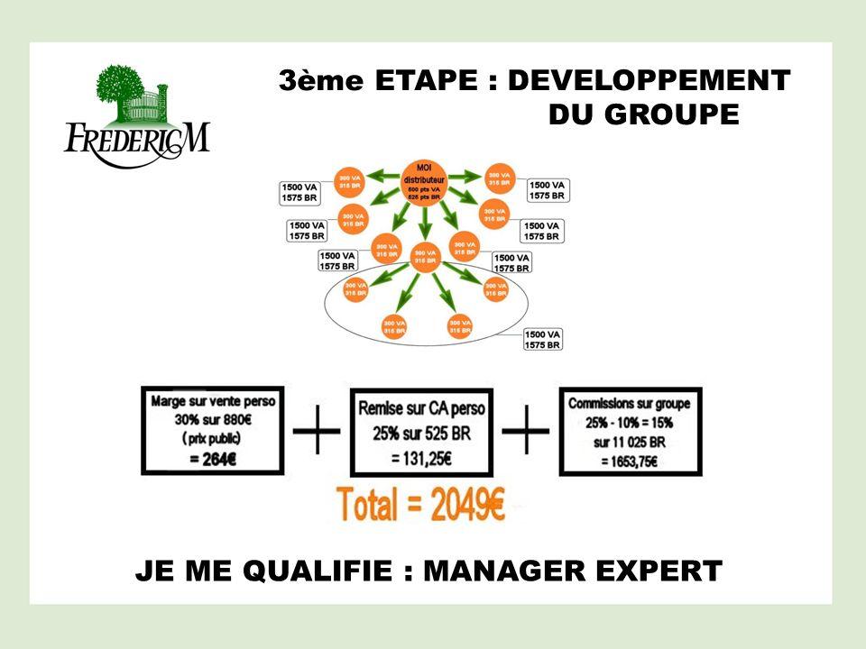 JE ME QUALIFIE : MANAGER EXPERT