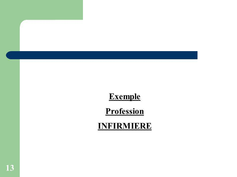 13 Exemple Profession INFIRMIERE