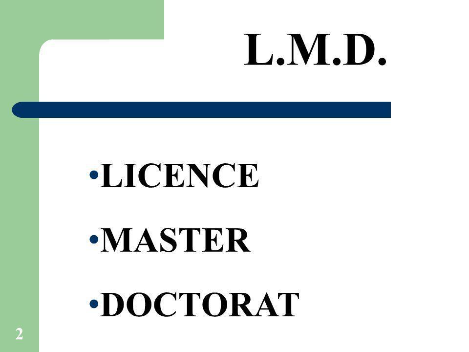 2 L.M.D. LICENCE MASTER DOCTORAT