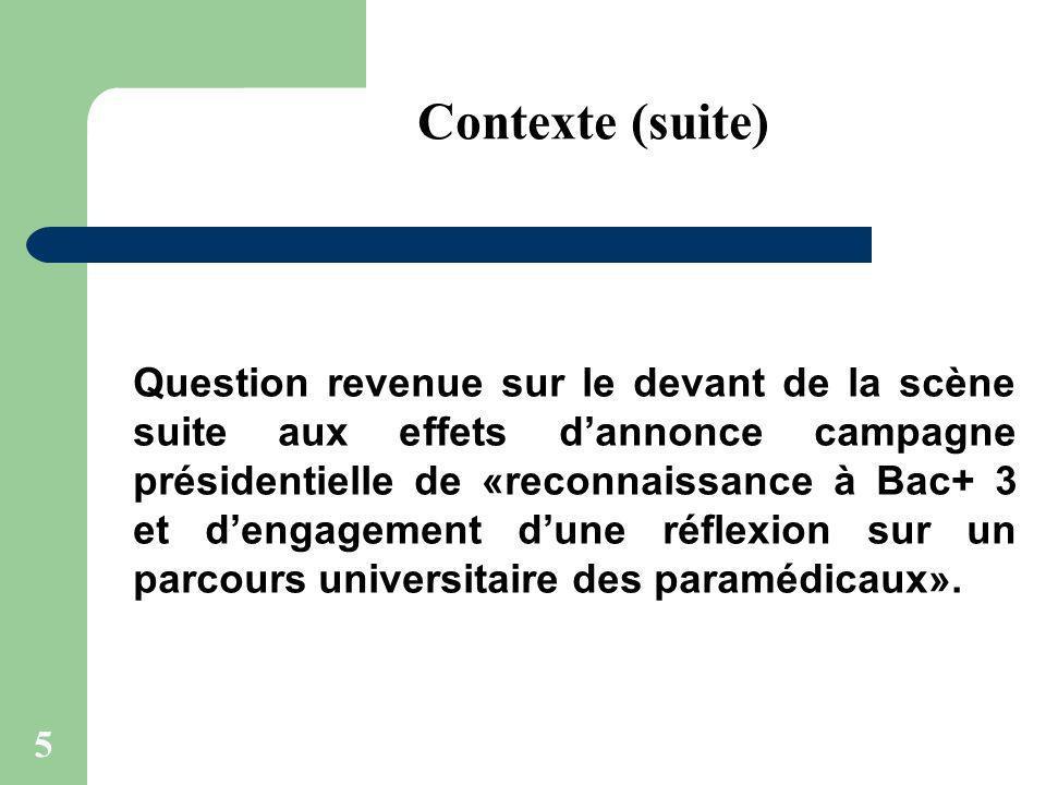 5 Question revenue sur le devant de la scène suite aux effets dannonce campagne présidentielle de «reconnaissance à Bac+ 3 et dengagement dune réflexi