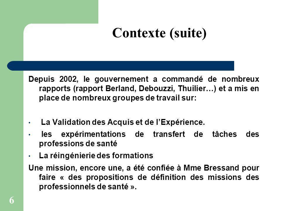 6 Depuis 2002, le gouvernement a commandé de nombreux rapports (rapport Berland, Debouzzi, Thuilier…) et a mis en place de nombreux groupes de travail