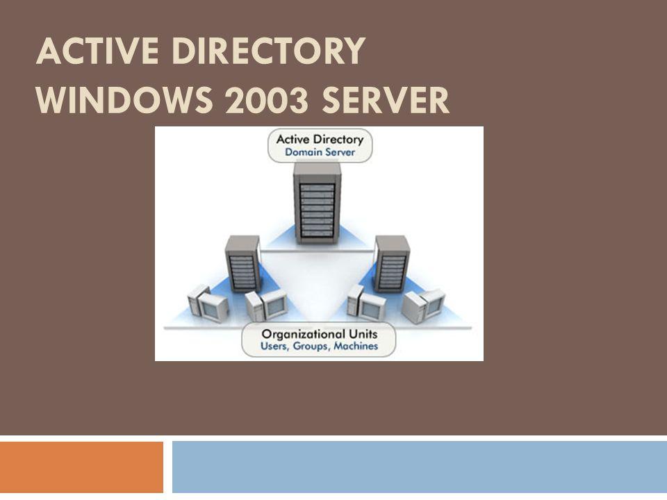 ACTIVE DIRECTORY WINDOWS 2003 SERVER