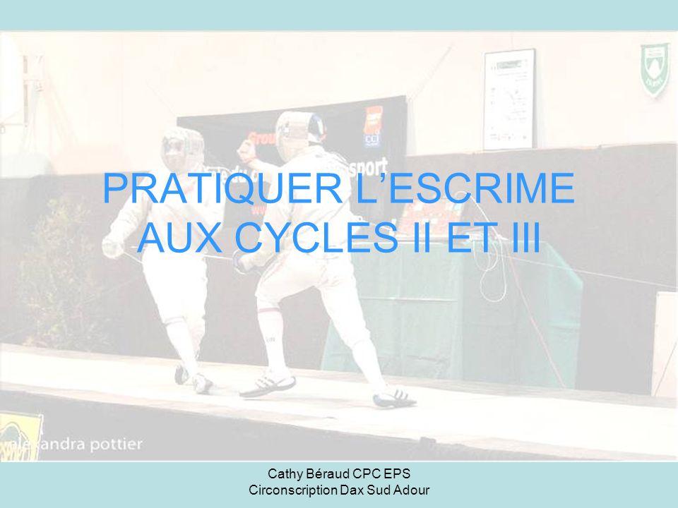 Cathy Béraud CPC EPS Circonscription Dax Sud Adour PRATIQUER LESCRIME AUX CYCLES II ET III