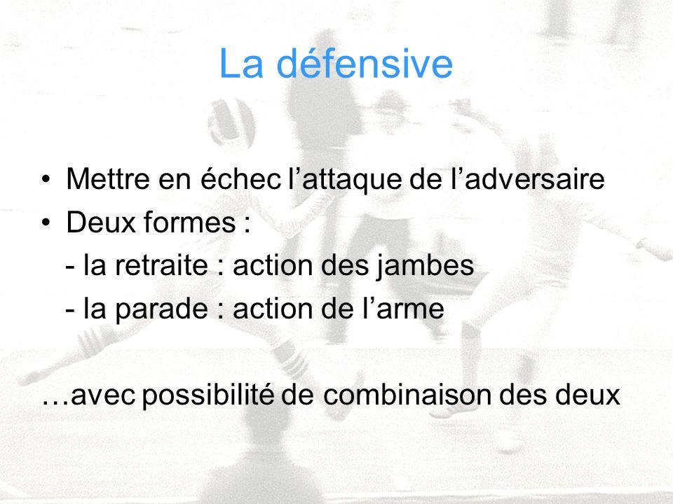 Cathy Béraud CPC EPS Circonscription Dax Sud Adour La défensive Mettre en échec lattaque de ladversaire Deux formes : - la retraite : action des jambe