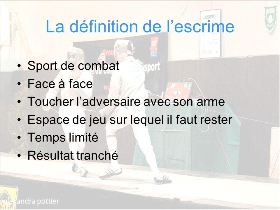 Cathy Béraud CPC EPS Circonscription Dax Sud Adour La définition de lescrime Sport de combat Face à face Toucher ladversaire avec son arme Espace de j