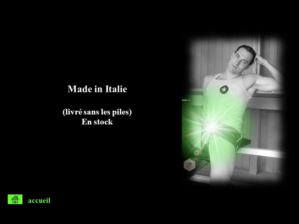 Made in Italie (livré sans les piles) En stock accueil