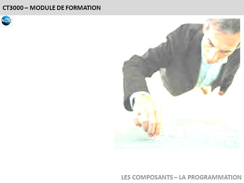 CT3000 – MODULE DE FORMATION LES COMPOSANTS – LA PROGRAMMATION