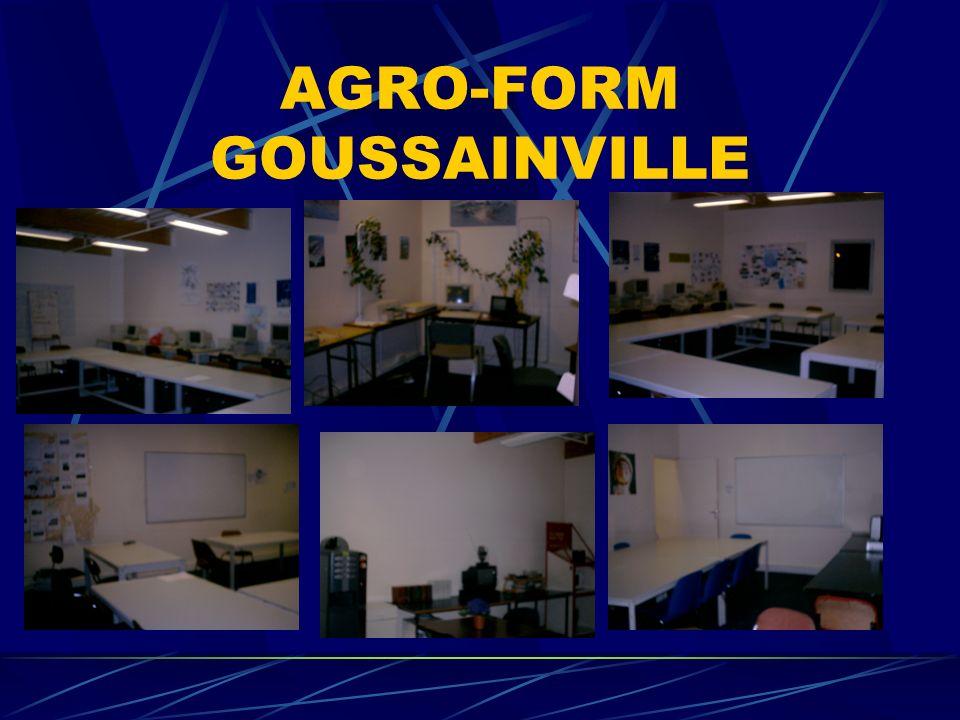 AGRO-FORM GOUSSAINVILLE ACCUEIL FORMATION 1 RUE J ANQUETIL CENTRE COMMERCIAL DES OLYMPIADES CHAMPION BP427 95170 ACCES RER D 100M TEL 0130181135 FAX 0