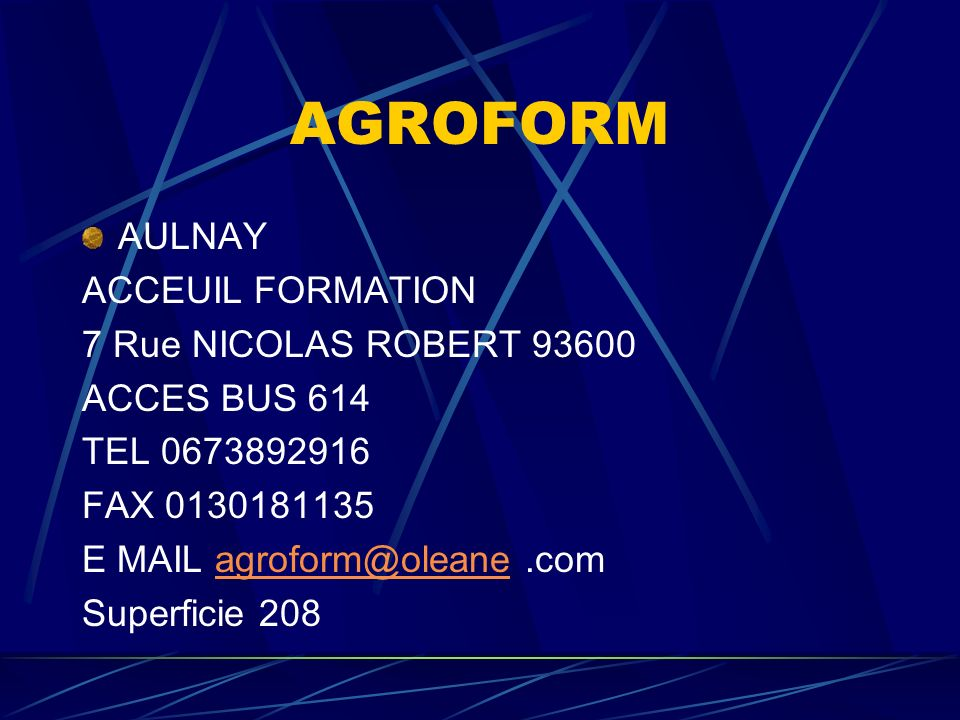 AGROFORM ARGENTEUIL