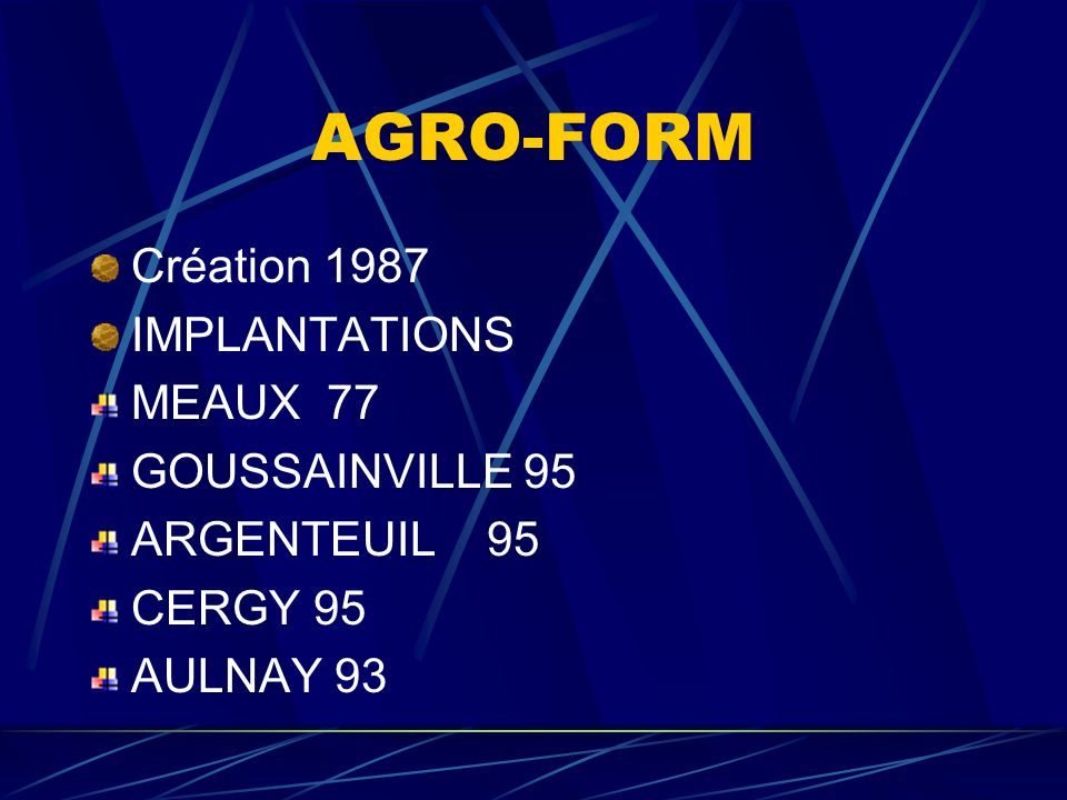AGRO-FORM PRESENTATION