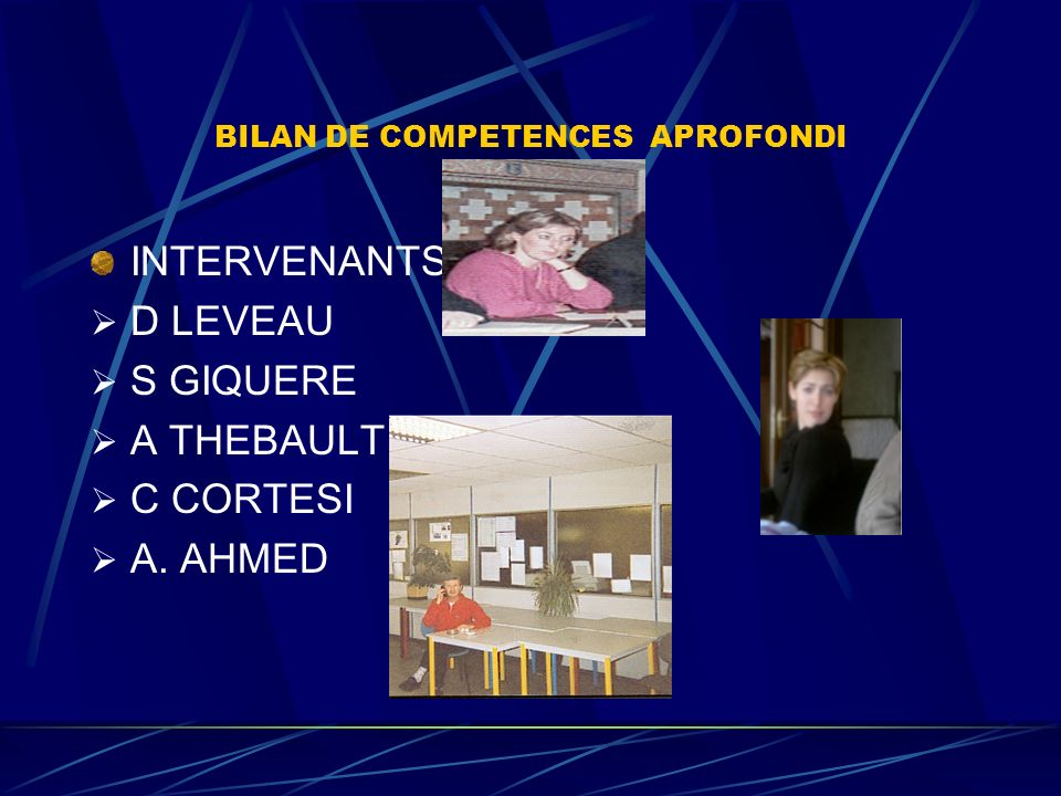 BILAN DE COMPETENCES APROFONDI ORGANISATION RV PHASES