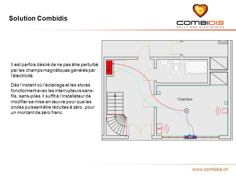 Solution Combidis www.combidis.ch Chambre Store Il est parfois désiré de ne pas être perturbé par les champs magnétiques générés par lélectricité. Dès