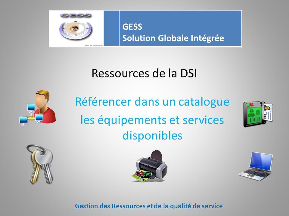 Les équipements et services Mieux maîtriser vos ressources Cest aussi mieux maîtriser les coûts Gestion des Ressources et de la qualité de service GES
