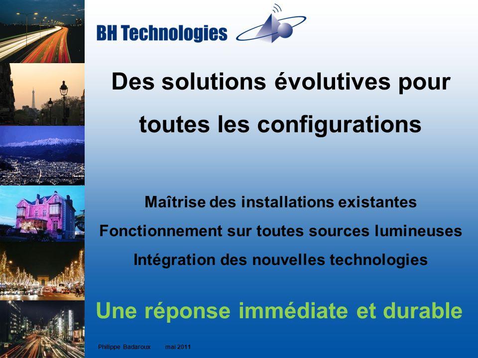Des solutions évolutives pour toutes les configurations Maîtrise des installations existantes Fonctionnement sur toutes sources lumineuses Intégration