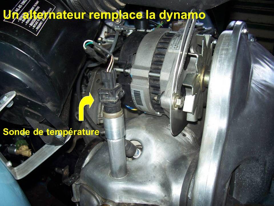Un alternateur remplace la dynamo Sonde de température