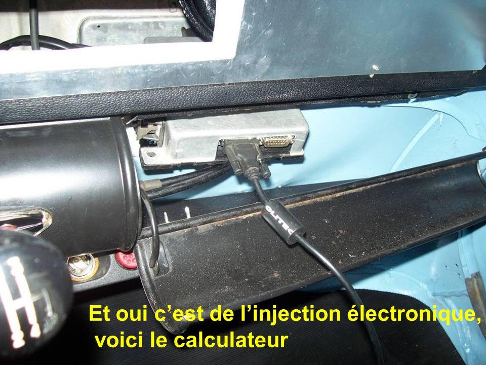 Et oui cest de linjection électronique, voici le calculateur