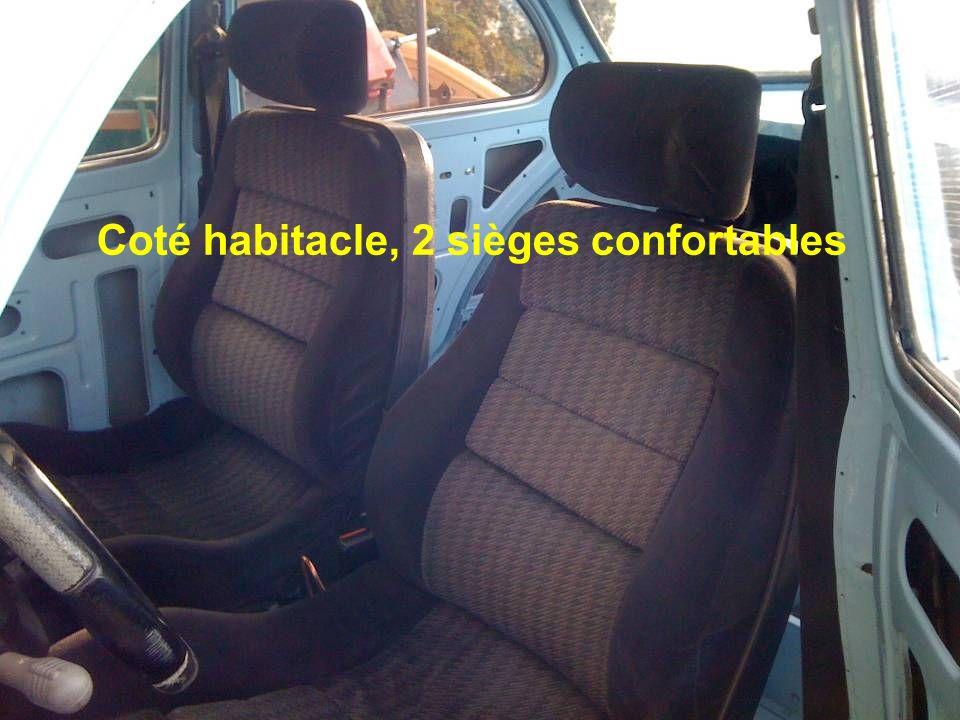 Coté habitacle, 2 sièges confortables