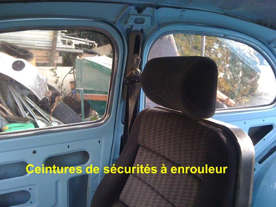 Ceintures de sécurités à enrouleur