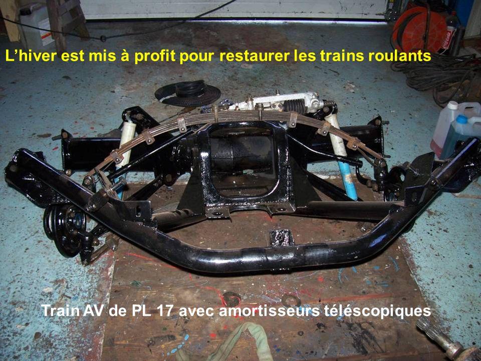 Lhiver est mis à profit pour restaurer les trains roulants Train AV de PL 17 avec amortisseurs téléscopiques