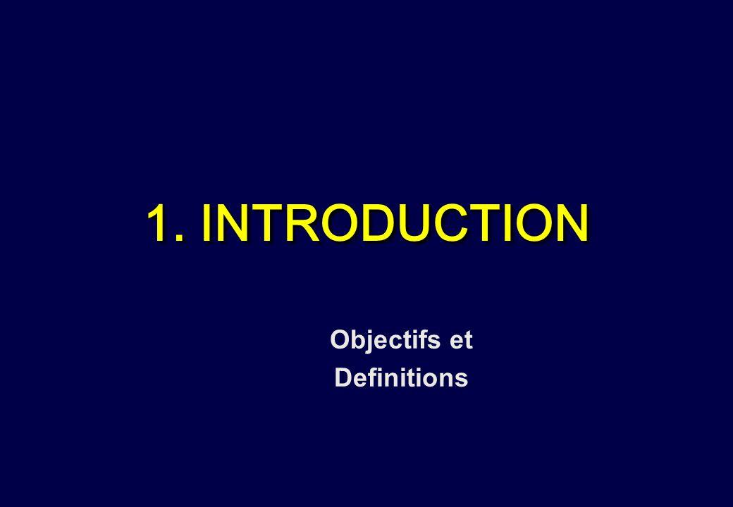 1. INTRODUCTION Objectifs et Definitions