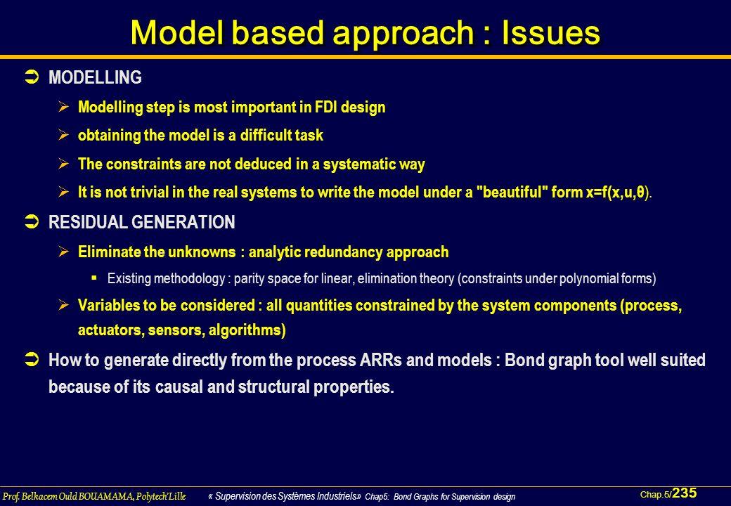 Chap.5/ 235 Prof. Belkacem Ould BOUAMAMA, PolytechLille « Supervision des Systèmes Industriels» Chap5: Bond Graphs for Supervision design Model based