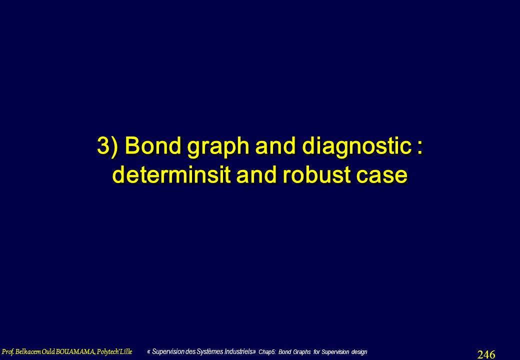 Prof. Belkacem Ould BOUAMAMA, PolytechLille « Supervision des Systèmes Industriels» Chap5: Bond Graphs for Supervision design 246 3) Bond graph and di
