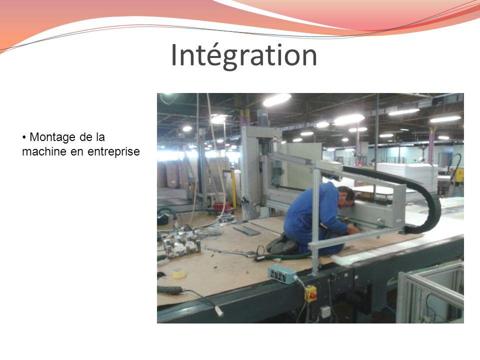 Intégration Montage de la machine en entreprise