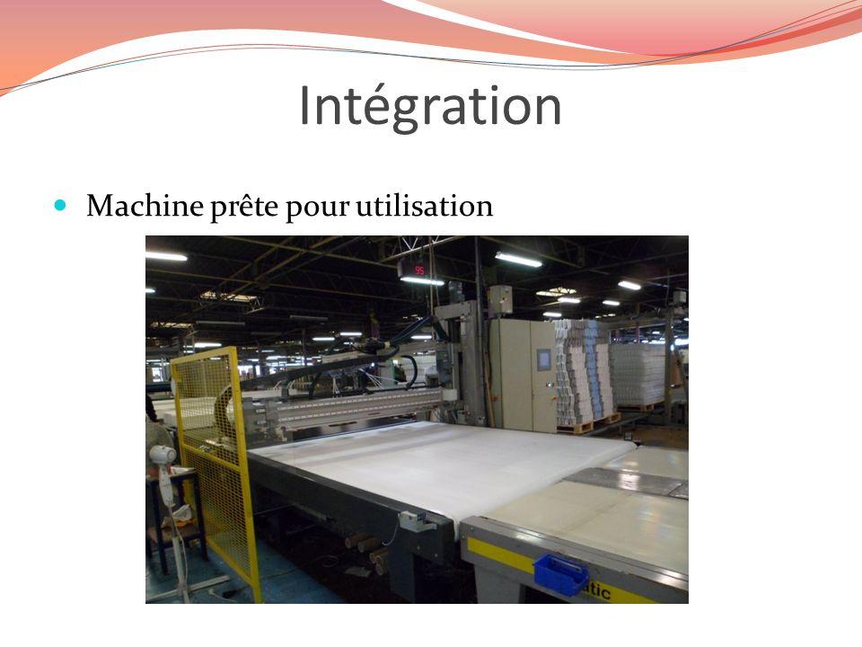Intégration Machine prête pour utilisation