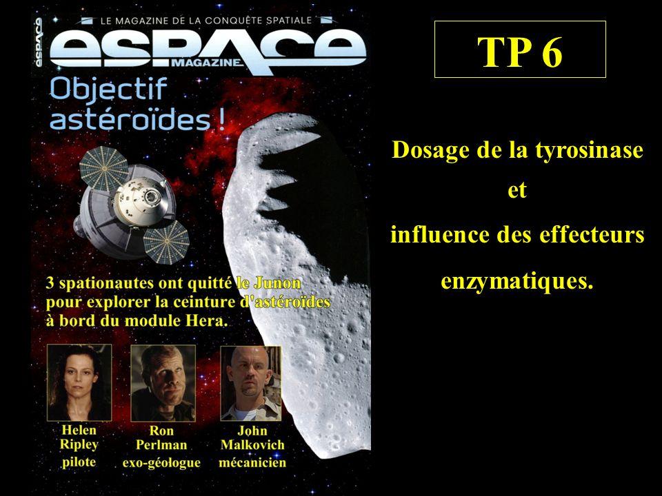 TP 6 Dosage de la tyrosinase et influence des effecteurs enzymatiques.