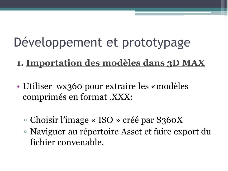 Développement et prototypage 1.
