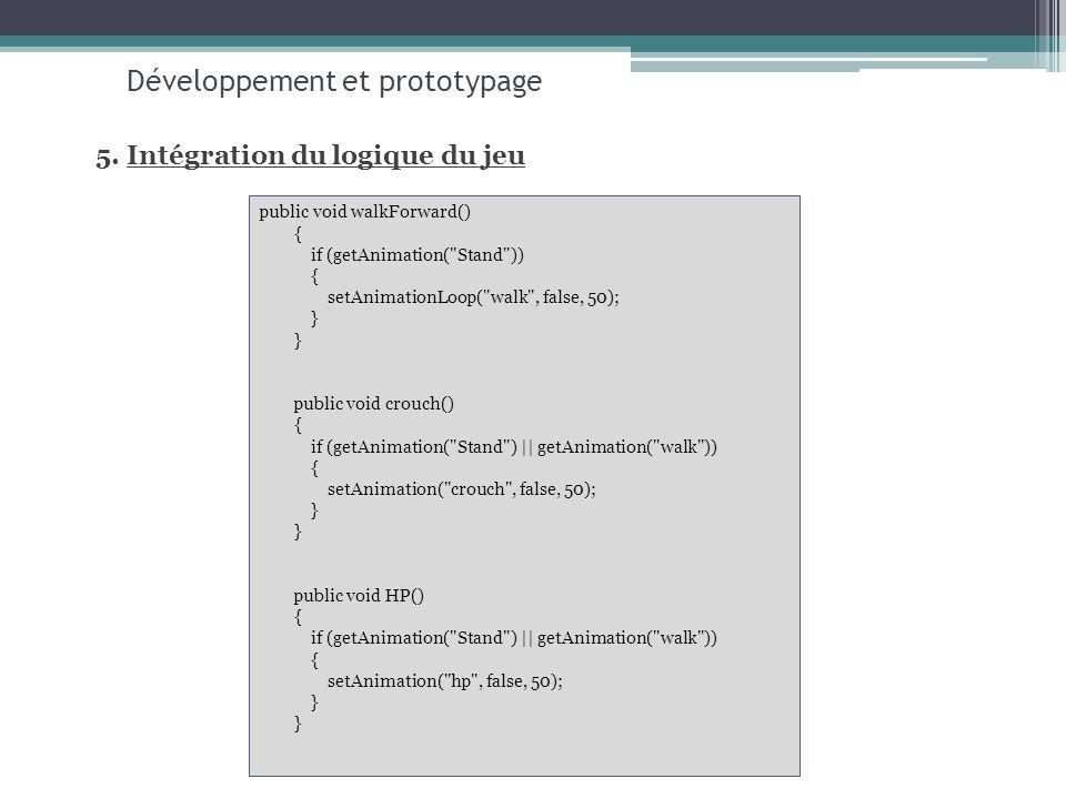 Développement et prototypage 5.