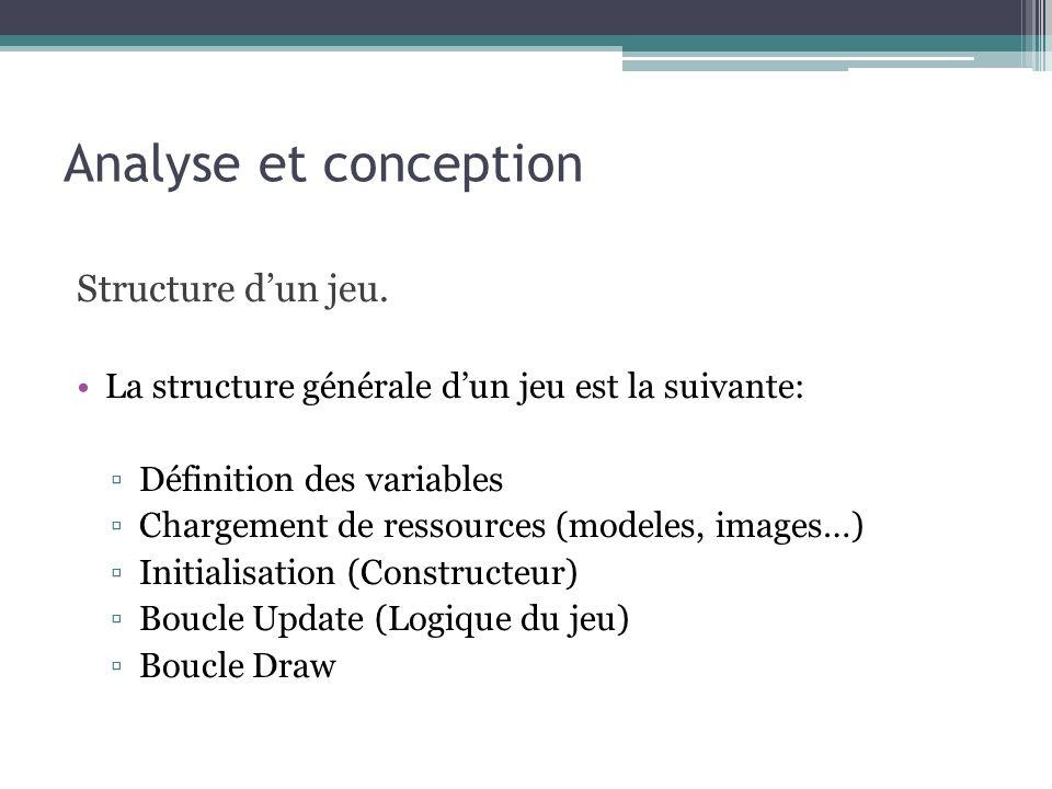 Analyse et conception Diagramme de Classes
