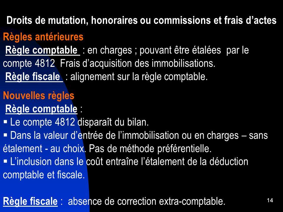 15 Acquisition dun terrain Prix dachat en N : 100 000 – Droits de mutation : 5 000 Revente fin N+ 4 : 140 000 Solution 1 : Droits de mutation….
