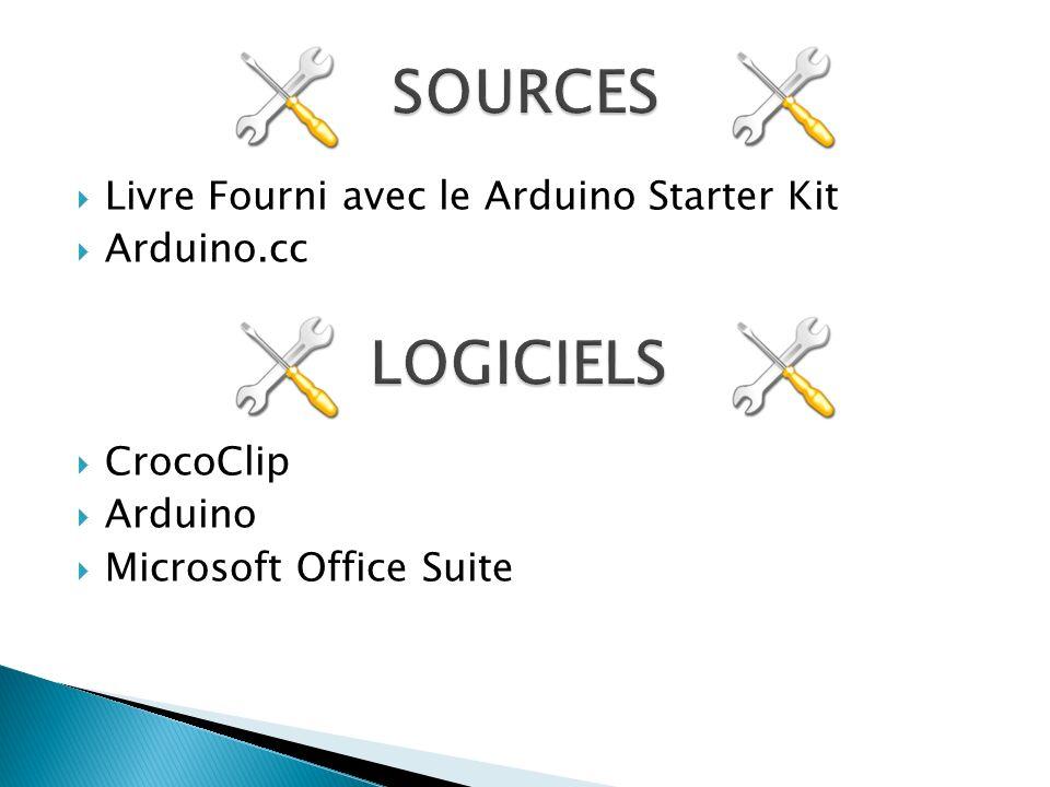 Livre Fourni avec le Arduino Starter Kit Arduino.cc CrocoClip Arduino Microsoft Office Suite