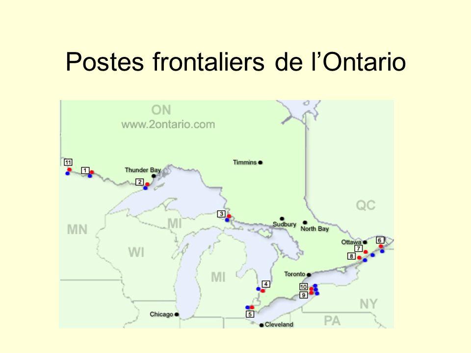 Postes frontaliers de lOntario