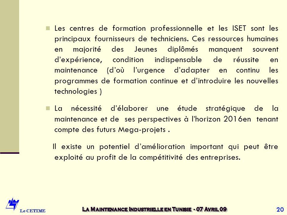 6. Conclusion : Les faiblesses majeures constatées se situent au niveau de : la gestion de la maintenance la sous-traitance (fabrication locale des pi