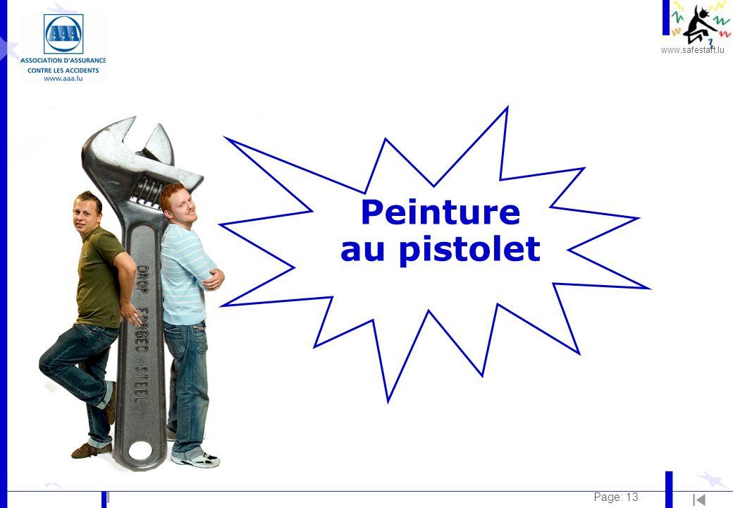 www.safestart.lu Page: 13 Peinture au pistolet