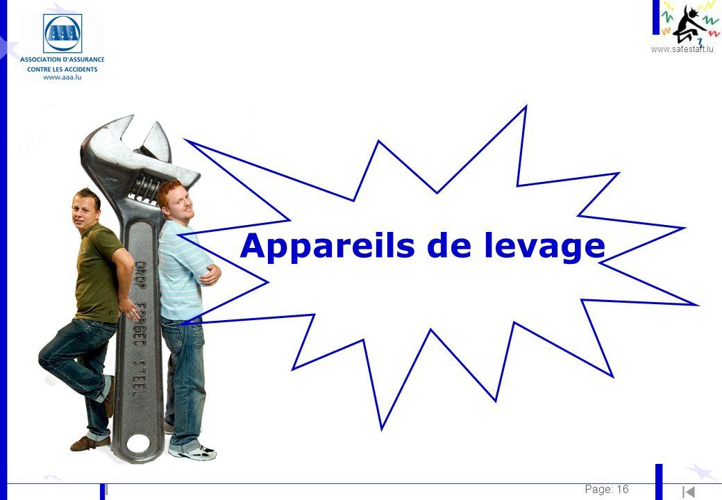 www.safestart.lu Page: 16 Appareils de levage