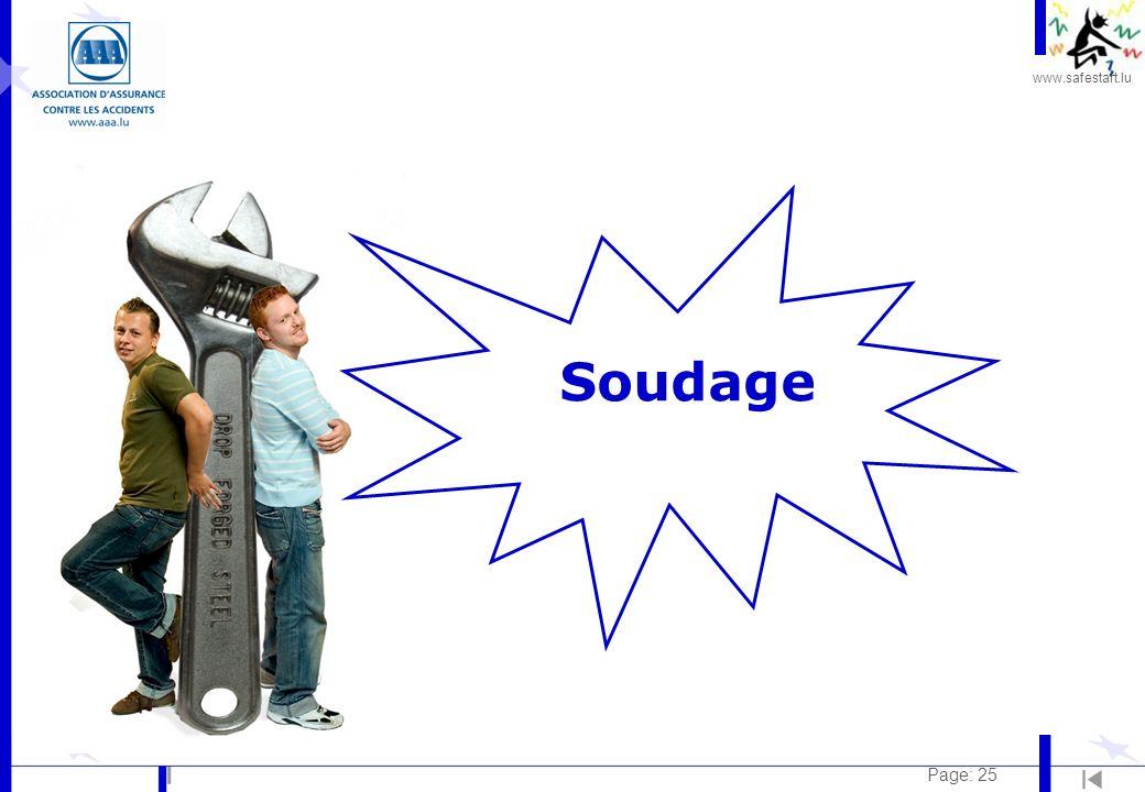 www.safestart.lu Page: 25 Soudage